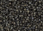 8/0 Triangle Toho Seed Beads - Iris Brown Metallic Matte #83F