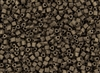 8/0 Triangle Toho Seed Beads - Olive Brown Iris Metallic Matte #702