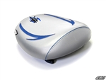 SUZUKI HAYABUSA REAR SEAT COVER WHITE AND BLUE