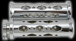 chrome universal grip diamond cut out