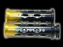 universal grips black with gold