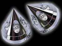bling front axle cover chrome-zirconium