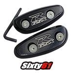suzuki engraved mirror caps black