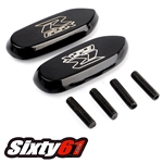 gsxr 2005-2014 2015 2016 2017 2018 2019 mirror block-offs black Sixty61