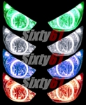 Kawasaki ZX6R Halo Headlight Angel Eye Lighting Kit