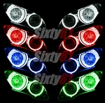Yamaha R1 Angel Eye Halo Lights Ion CCFL YZF 2007 2008