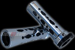 chrome-black sixty61 grips rounded diamond cut-out