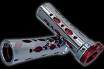 chrome/red grips rounded diamond cut-out