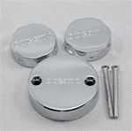 chrome ducati 2 brake reservoir caps and 1 clutch for ducati