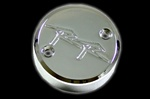 honda front reservoir cap chrome