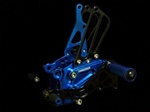 blue adjustable rearsets Honda CBR 600RR