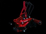 red adjustable rearsets Honda CBR 600RR