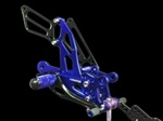 blue adjustable Honda rearsets CBR 1000RR