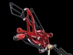 red adjustable aluminum Honda rearsets CBR 1000RR lower controls
