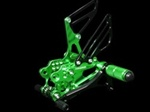 adjustable Kawasaki green rearsets ZX 12R