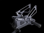 black adjustable aluminum rearsets Yamaha YZF R6