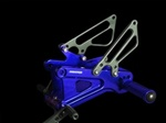 blue anodized adjustable rearsets Yamaha YZF R6