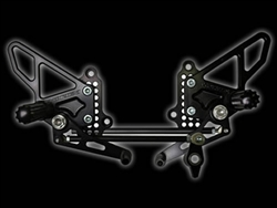 Vortex Rearsets Black Ducati 848 1098 RS198K