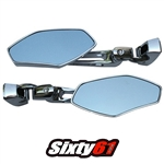 roaring toyz billet mirror in triple chrome plated