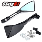 black billet rizoma tomok mirrors triangle sixty61