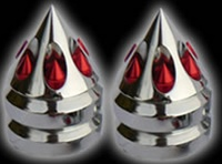 suzuki gatling spike bar ends chrome red