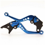 blue shorty levers yamaha brake and clutch