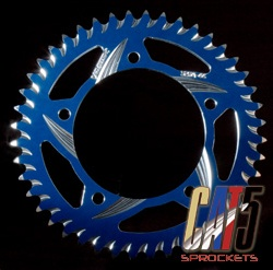 vortex rear and front sprocket in blue