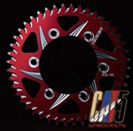 front rear sprocket for suzuki in red