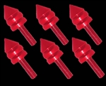 spike windscreen fairing bolts red