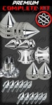 CHROME/BLACK PREMIUM SPIKE KIT | KAWASAKI ZX10, ZX6 R/RR, 636