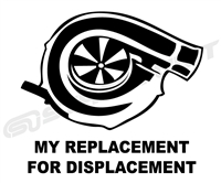 Replacement for Displacement Vinyl Decal