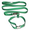 K-9 Training Collar Leash Combo Set Flat Nylon Webbing