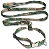 K-9 Training Collar Leash Combo Set Patterned Polyester Webbing