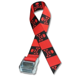 Metal Cam Straps w/ 1-1/2 inch Patterned Polyester