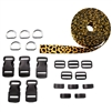 Pet Collar Kit (5 Collars, Leopard Picture Quality Polyester)