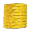 Kernmantle Rope 1/2 inch Yellow w/ White Stripe