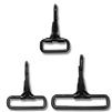 Metal Fixed Loop Swivel Snaps Black Oxide