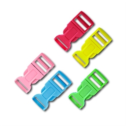 1/2 Inch Colored Single Adjust Side Release Buckles