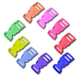 5/8 Inch Colored Single Adjust Side Release Buckles