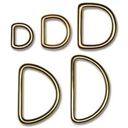 Solid Brass D-Rings