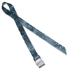 Stainless Steel Cam strap w/1 inch Patterned Polyester Webbing