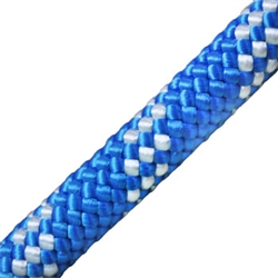 Kernmantle Rope 1/2 inch Blue w/ White Stripe