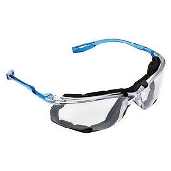 3M 3MR11872-00000 Virtua CCS Safety Glasses With Blue And Clear Polycarbonate Frame, Clear Polycarbonate Anti-Fog Lens And Foam Gasket Attachment