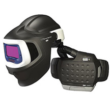 "3M 3MR37-1101-20SW Adflo Belt-Mounted Universal Lithium Ion High Efficiency PAPR System With Speedglas 9100 MP Welding Helmet, 5, 8 - 13 Shade 2.1"" X 4.2"" Speedglas 9100XX Auto Darkening Filter And Hard Hat"