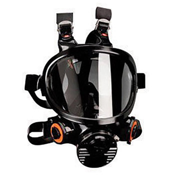 3M 3MR7800S-M Medium Silicone Ultimate Full Face 7000 Series Reusable Facepiece With 6 Point Harness And Bayonet Connection