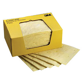 "3M 3MRC-PD914DD 9 1/4"" X 14 1/2"" Yellow High Capacity Sorbent Pad"