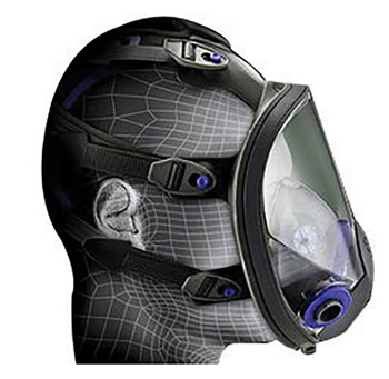 3M 3MRFF-401 Small Ultimate FX Full Face Reusable Respirator With Scotchgard Lens Coating And Bayonet Connection