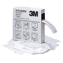 "3M 3MRP-FL550DD/T 5"" X 50' White Polypropylene And Polyester High Capacity Folded Sorbent, Perforated Every 16"""