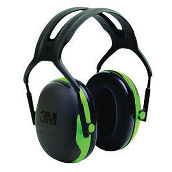 3M 3MRX1A Peltor Black And Green Model X1A/37270(AAD) Over-The-Head Hearing Conservation Earmuffs