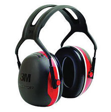 3M 3MRX3A Peltor Black And Red Model X3A/37272(AAD) Over-The-Head Hearing Conservation Earmuffs